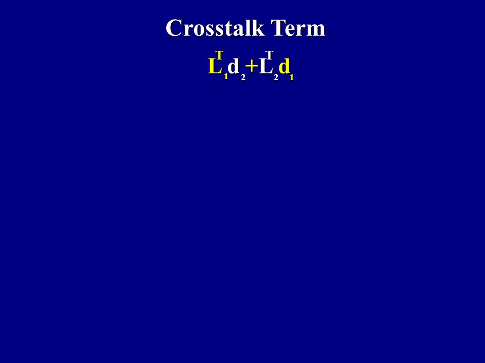 Crosstalk Term Time Statics Time+Amplitude Statics QM Statics L d +L d L d +L d212 1 TT