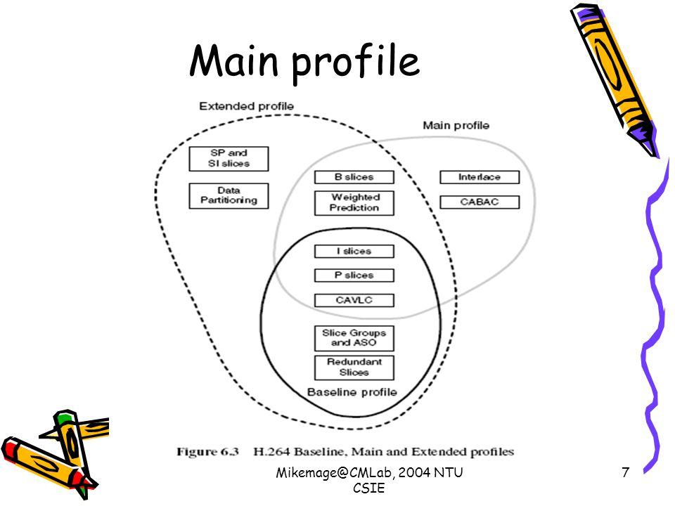 Mikemage@CMLab, 2004 NTU CSIE 7 Main profile