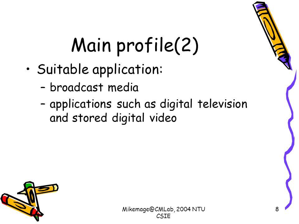 Mikemage@CMLab, 2004 NTU CSIE 19 Extended profile