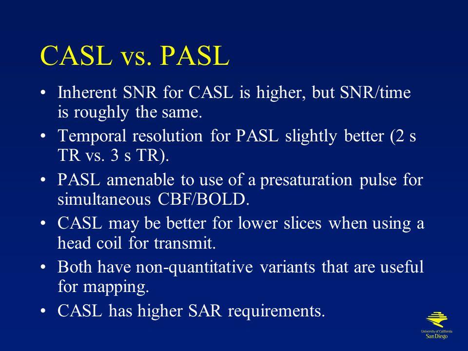 Multislice CASL and PICORE CASL PICORE QUIPSS II