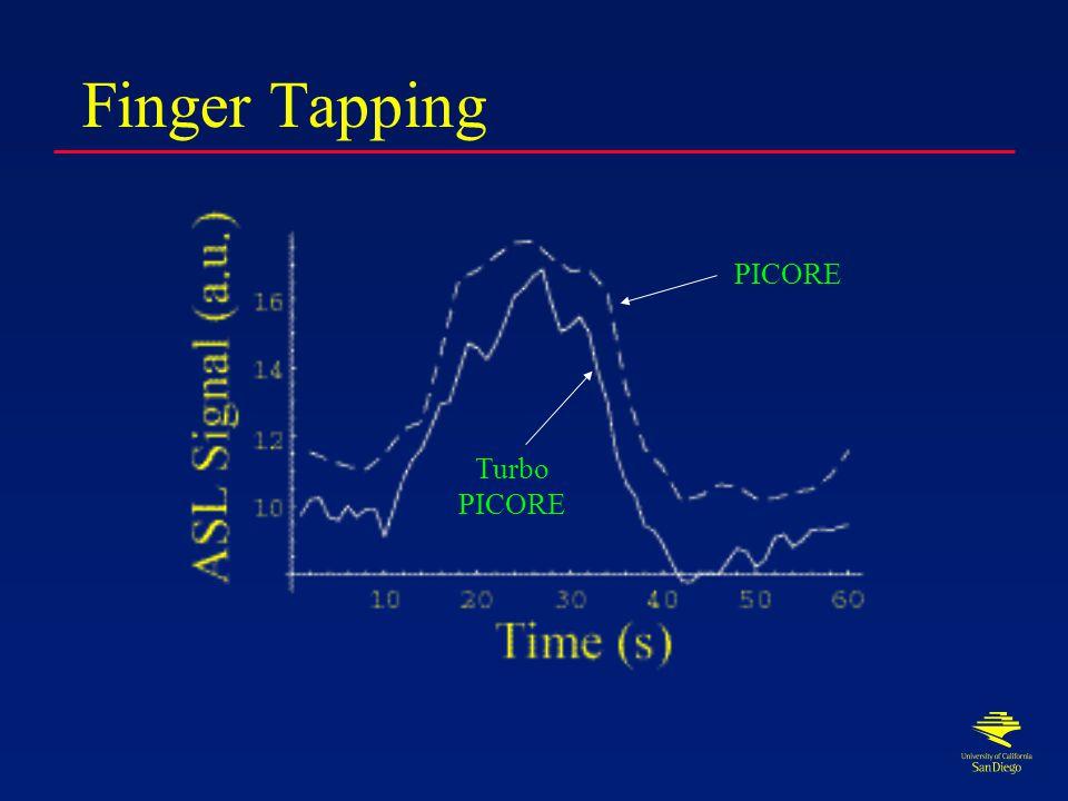 Turbo ASL Tag Control Tag Image Control Image Tag Control Control Image Tag Image Control Image TI TR ~ 2s TR ~ 1s Conventional ASL, TR > TI Turbo ASL, TR < TI
