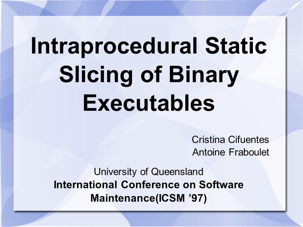 INDEX ICSM Author Motivation Background Basic knowledge Algorithm