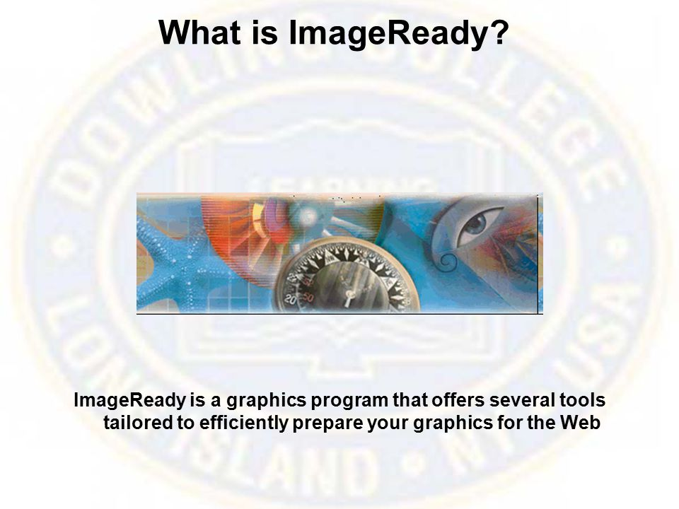Opening and Importing Files To open a file in ImageReady: From the main menu, choose File > Open OR press the Ctrl + O key combination.