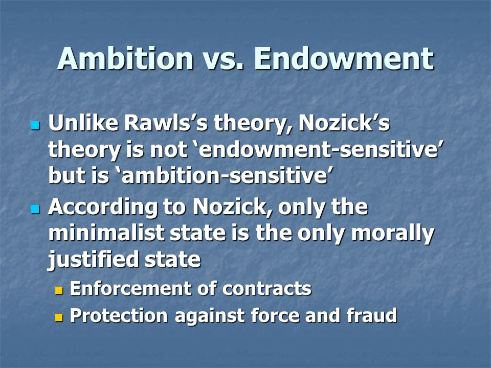 Ambition vs.
