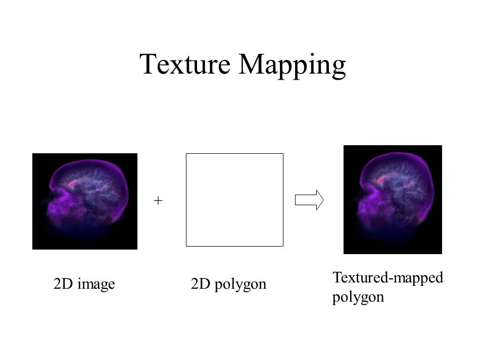 Texture Mapping 2D image2D polygon + Textured-mapped polygon