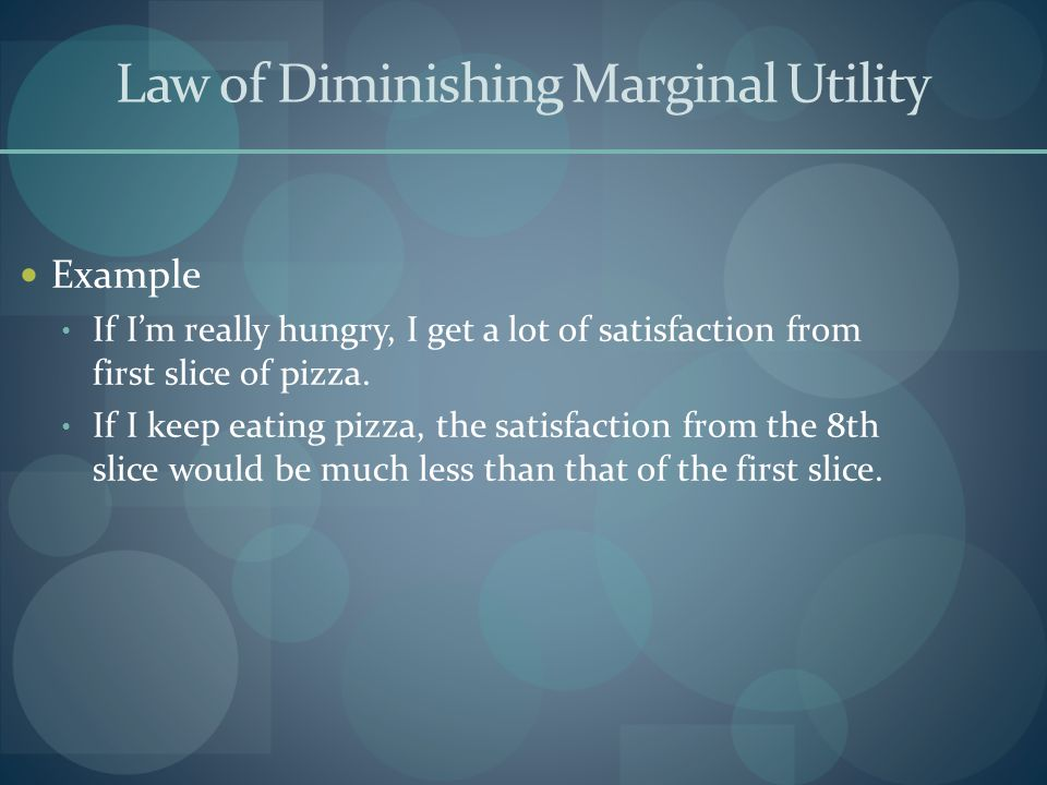 Consumer Equilibrium Remember, I want to choose the combination of pizza and Ice Cream that gives me the greatest possible utility for my $7 Consider the following table, which states the total utility I get from all possible quantities of Pizza and Ice Cream