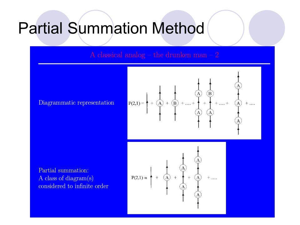 Partial Summation Method