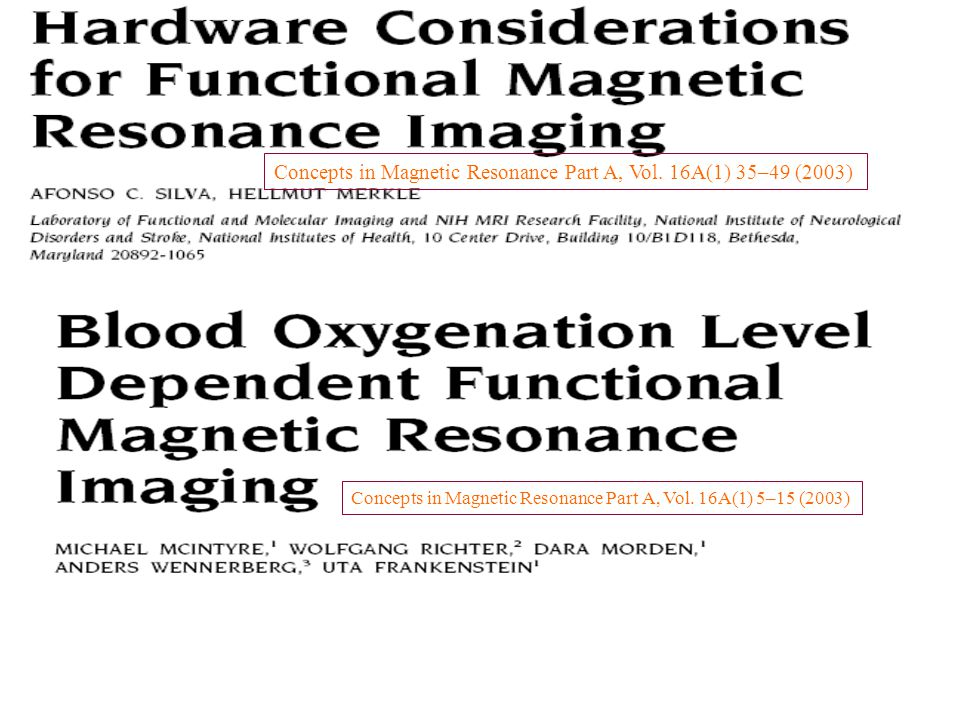 Concepts in Magnetic Resonance Part A, Vol.