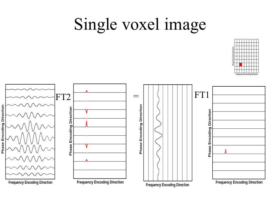 Single voxel image FT2 = FT1