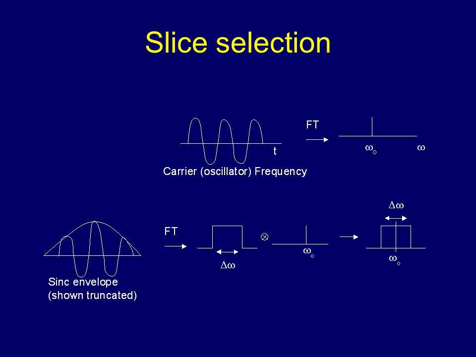 Slice selection using gradients Sample x x1x1 x2x2  (x 1 )  (x 2 ) BzBz