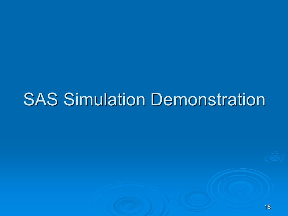 18 SAS Simulation Demonstration
