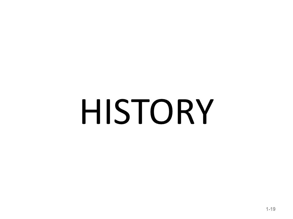 HISTORY 1-19