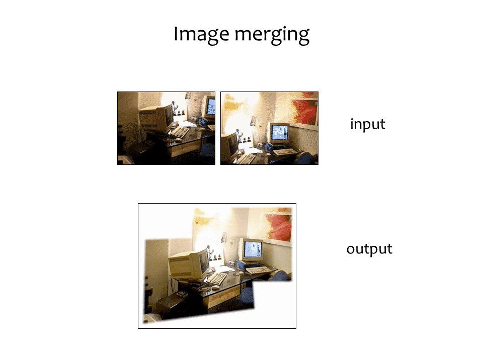 Image merging input output
