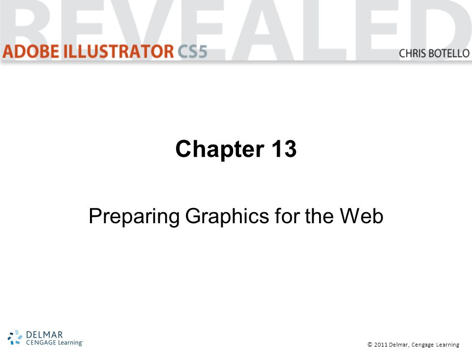 © 2011 Delmar, Cengage Learning Chapter 13 Preparing Graphics for the Web