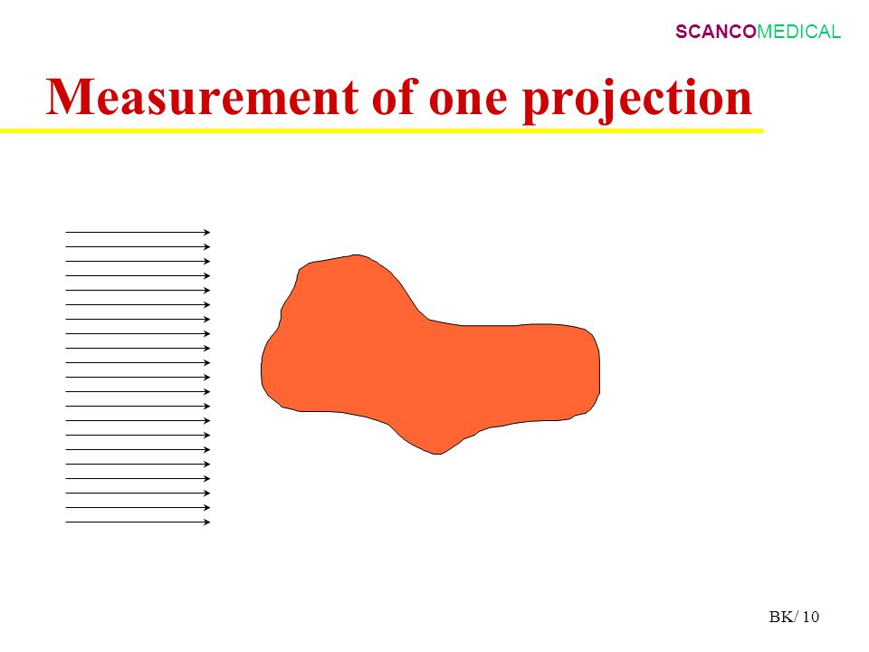 SCANCOMEDICAL BK/ 10 Measurement of one projection