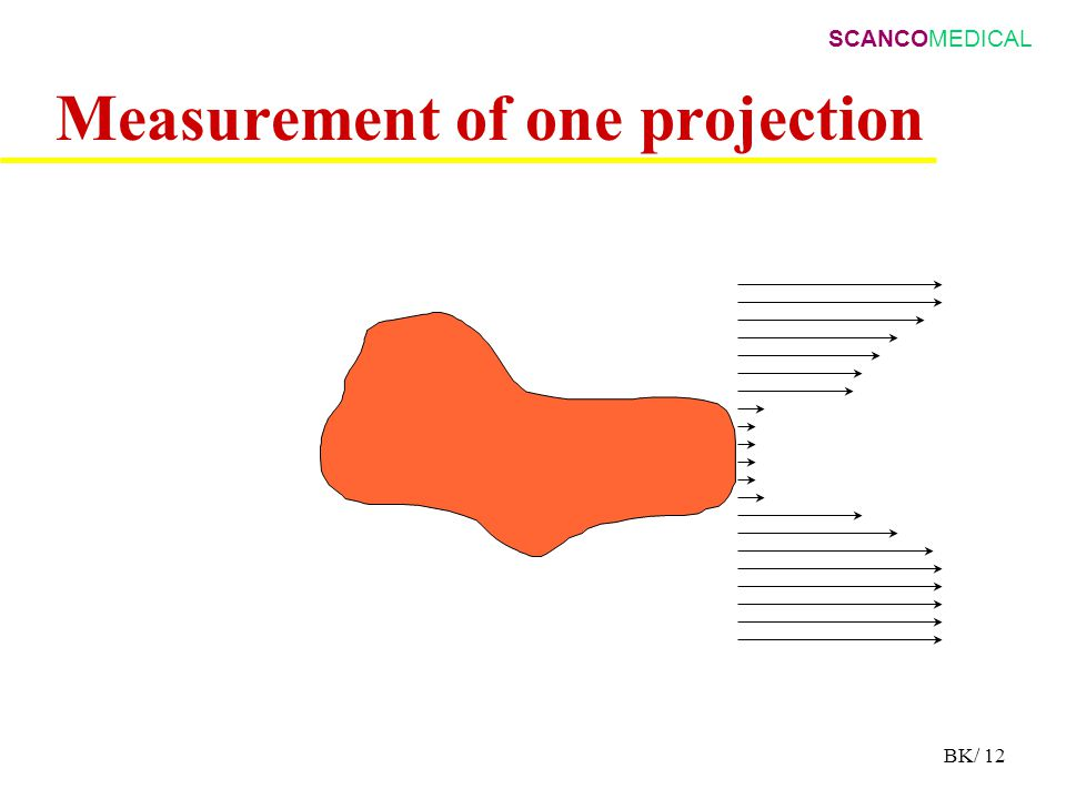SCANCOMEDICAL BK/ 12 Measurement of one projection