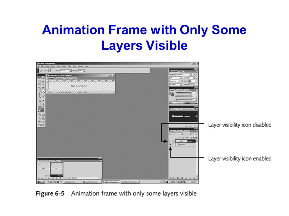 Creating Animation from Files In addition to using layers to create animations, you can import multiple files, each of which will become a separate frame of the animation