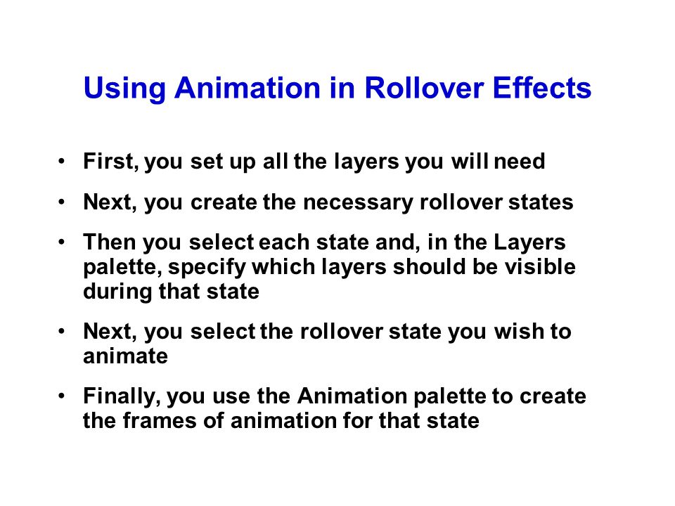 A Rollover Effect that Includes Animation
