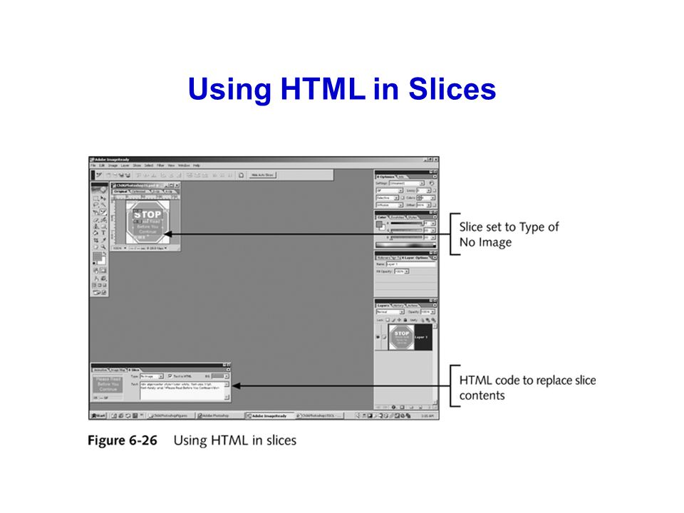 Using HTML in Slices