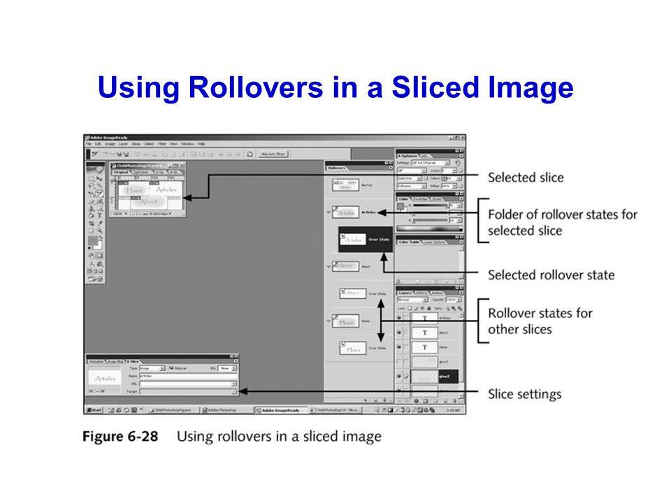 Using Rollovers in a Sliced Image
