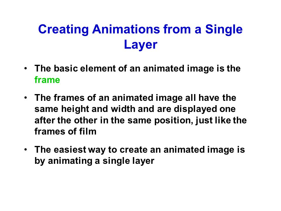A Single-Layer Animation