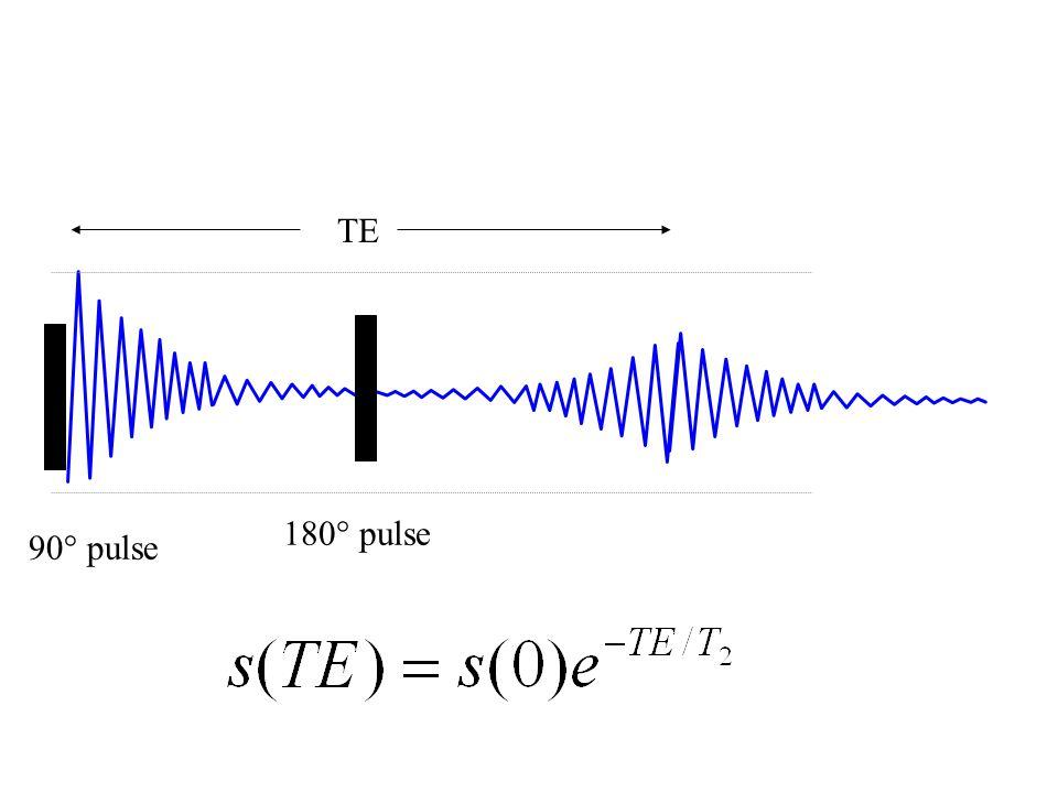 180° pulse 90° pulse TE