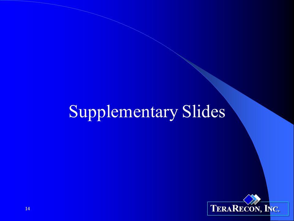 T ERA R ECON, I NC. 14 Supplementary Slides