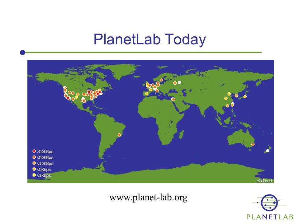 PlanetLab Today www.planet-lab.org