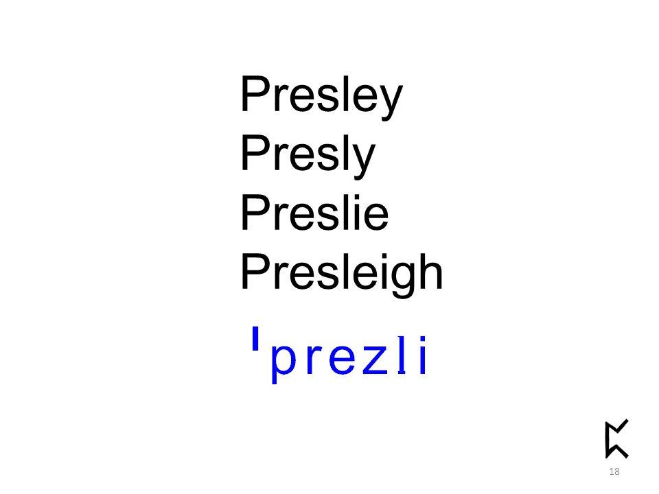 Presley Presly Preslie Presleigh 18