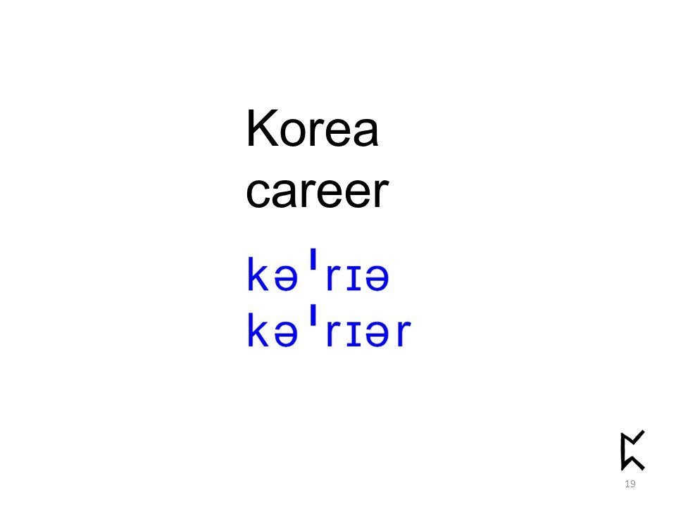 Korea career 19