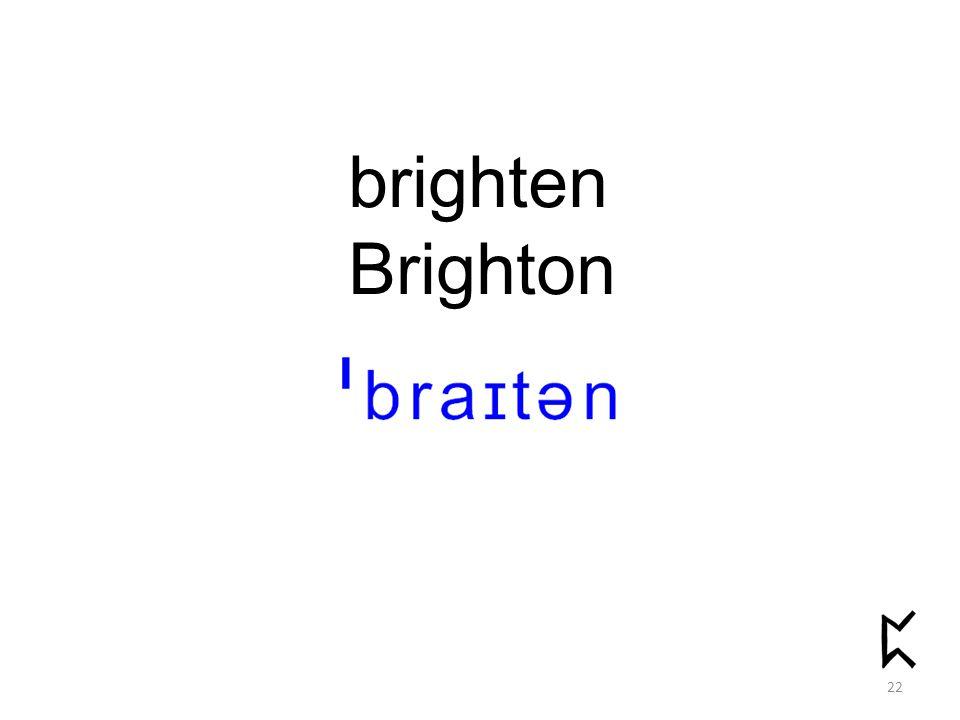 brighten Brighton 22