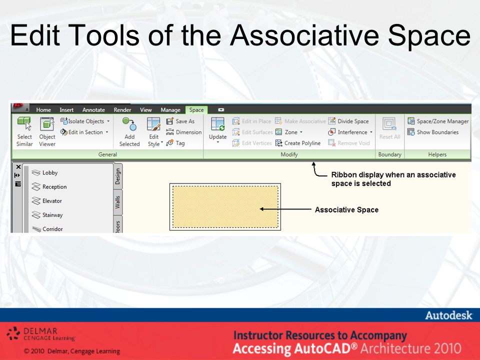 Edit Tools of the Associative Space