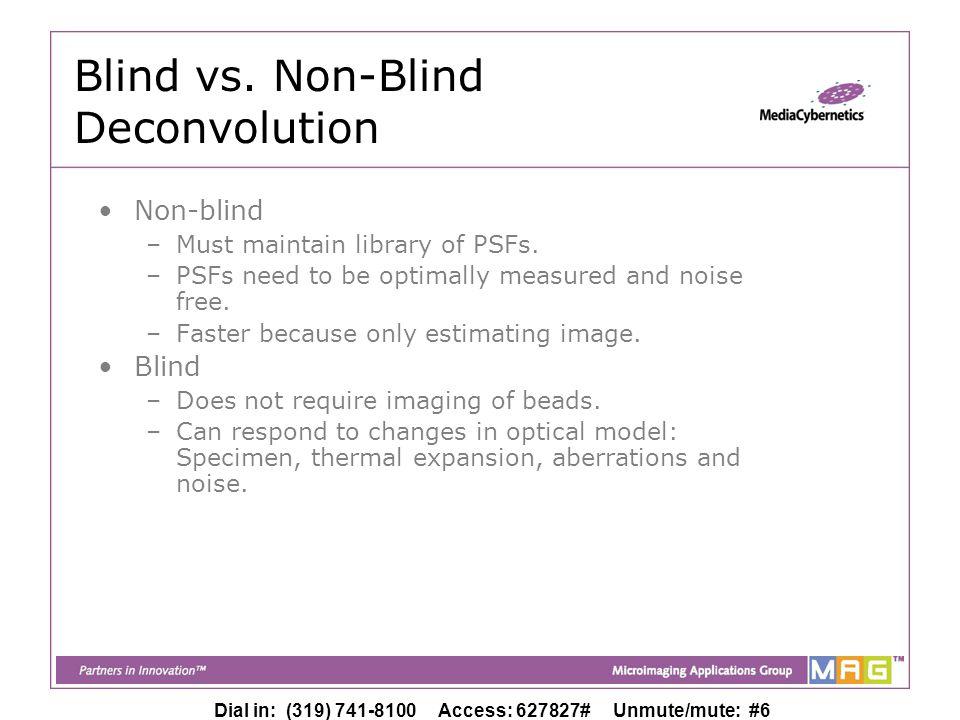 Dial in: (319) 741-8100 Access: 627827# Unmute/mute: #6 Blind vs.