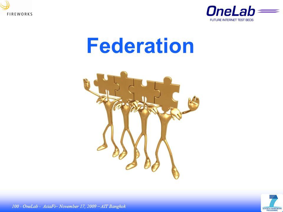 100 - OneLab - AsiaFi– November 17, 2009 – AIT Bangkok Federation