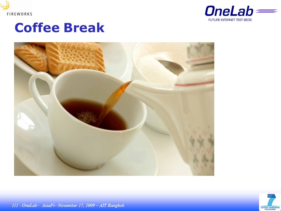 111 - OneLab - AsiaFi– November 17, 2009 – AIT Bangkok Coffee Break