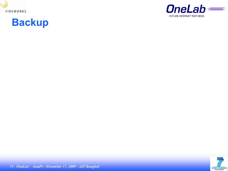 73 - OneLab - AsiaFi– November 17, 2009 – AIT Bangkok Backup