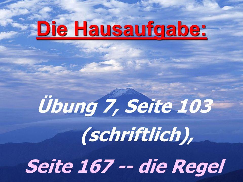 Übung 4 auf der Seite 101: Alpen Alpen Inseln Inseln Schwarzwald Schwarzwald Ostsee Ostsee Gebirge Gebirge Deutschlands Deutschlands Flüsse Flüsse