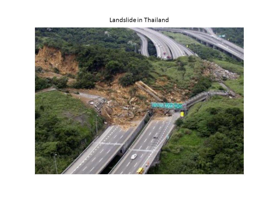 Landslide in Thailand