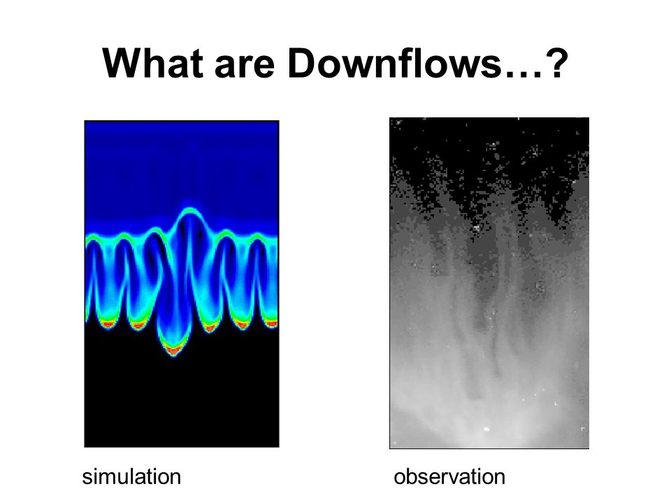 What are Downflows… simulationobservation