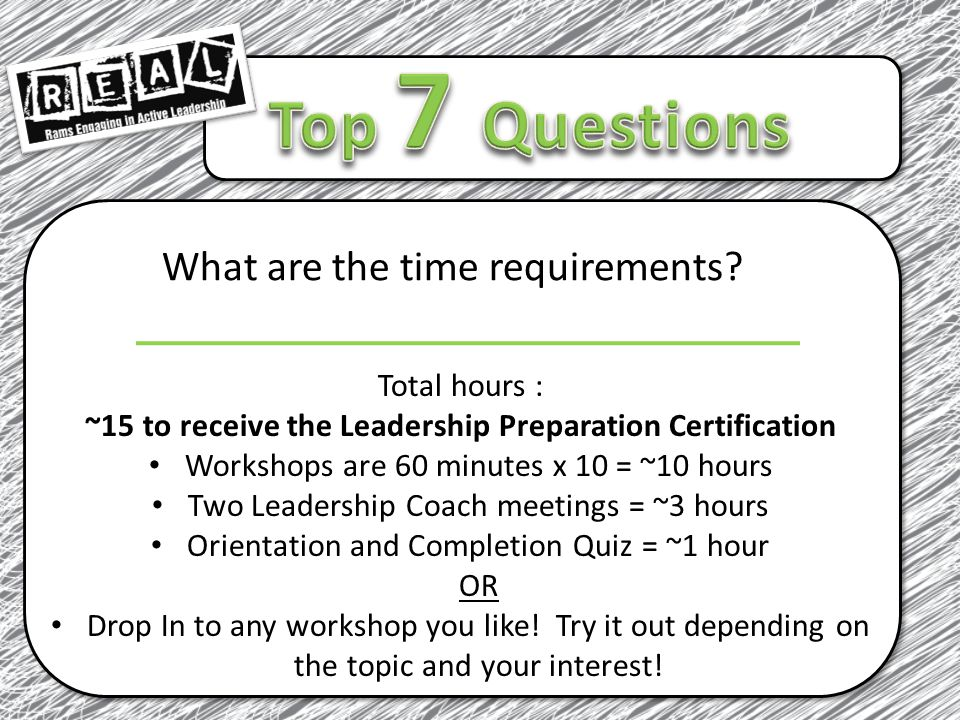 What are the time requirements.