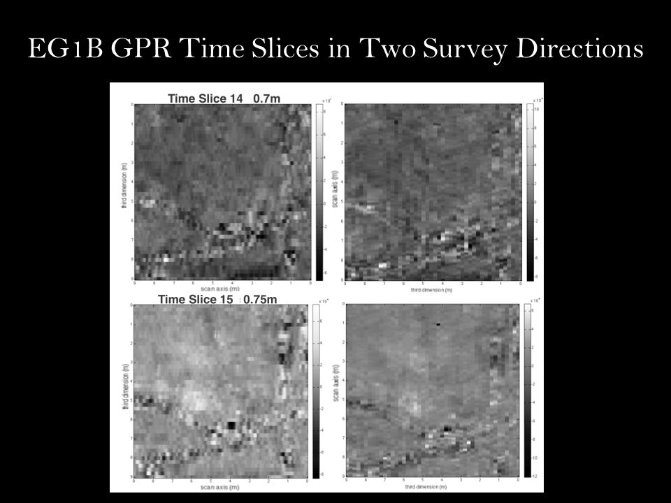 EG1B GPR Time Slices in Two Survey Directions