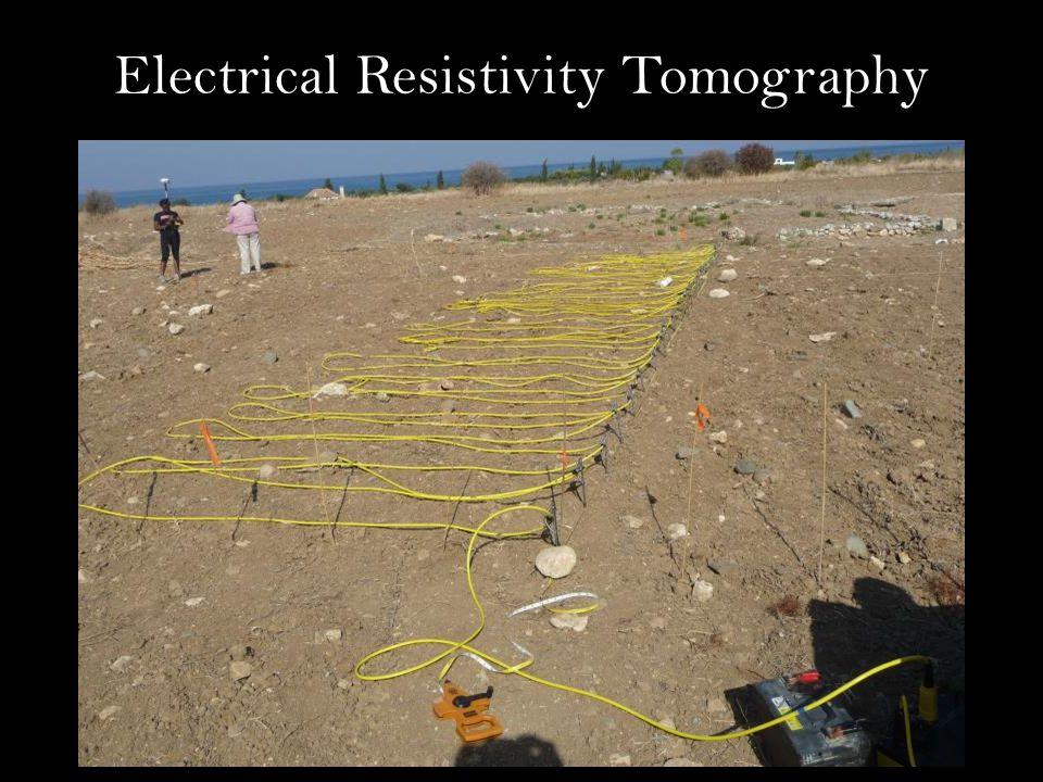 Electrical Resistivity Tomography ERT Multiple Lines Electrodes Ohm meters ERT Multiple Lines Electrodes Ohm meters Electrodes Ohm meters