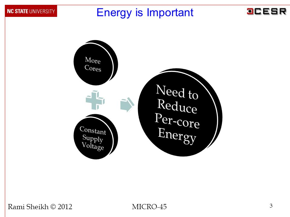 Energy is Important 3 Rami Sheikh © 2012 MICRO-45