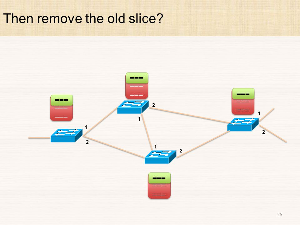 Then remove the old slice 26 1 2 1 2 1 2 1 2 ===