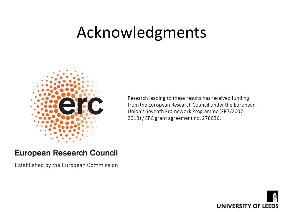 Research leading to these results has received funding from the European Research Council under the European Union s Seventh Framework Programme (FP7/2007- 2013) / ERC grant agreement no.