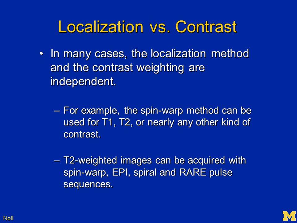 Noll Localization vs.
