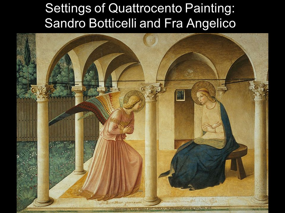 Settings of Quattrocento Painting: Sandro Botticelli and Fra Angelico