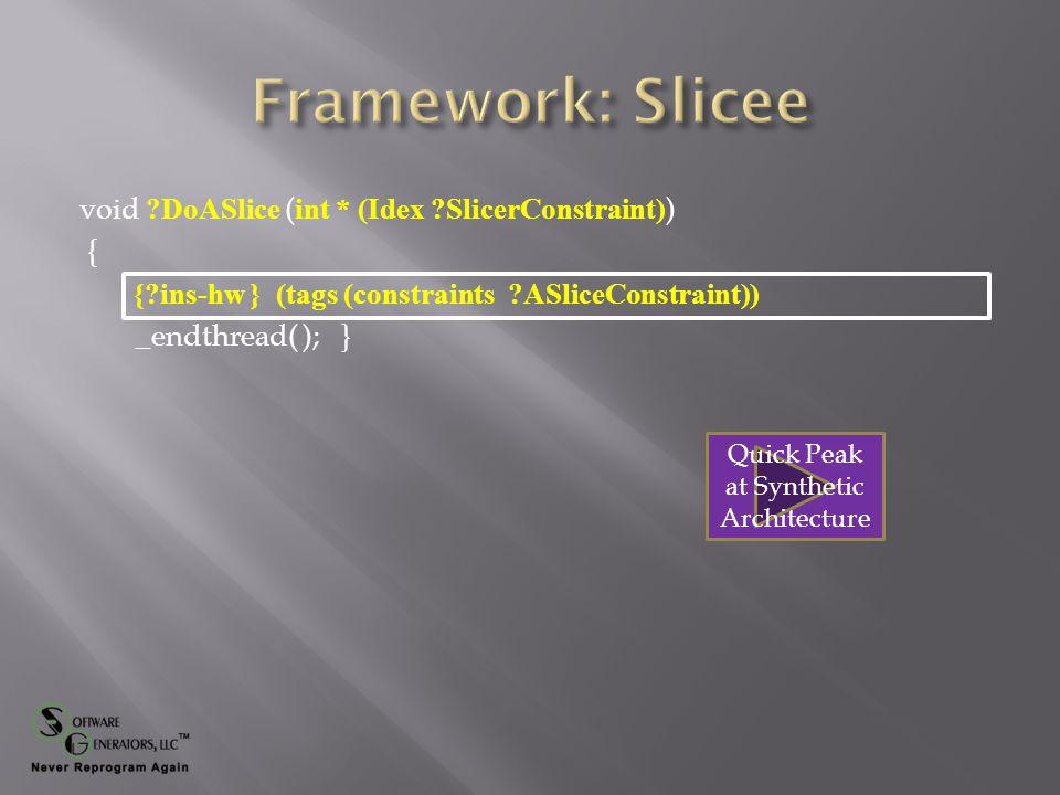 Quick Peak at Thread Manager Quick Peak at Edge Thread code Quick Peak at Center Slice code
