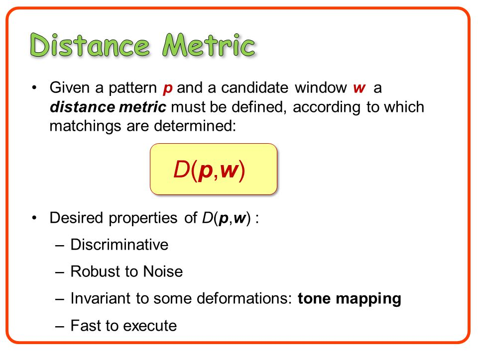 A new distance measure that accounts for non- linear tone mappings.