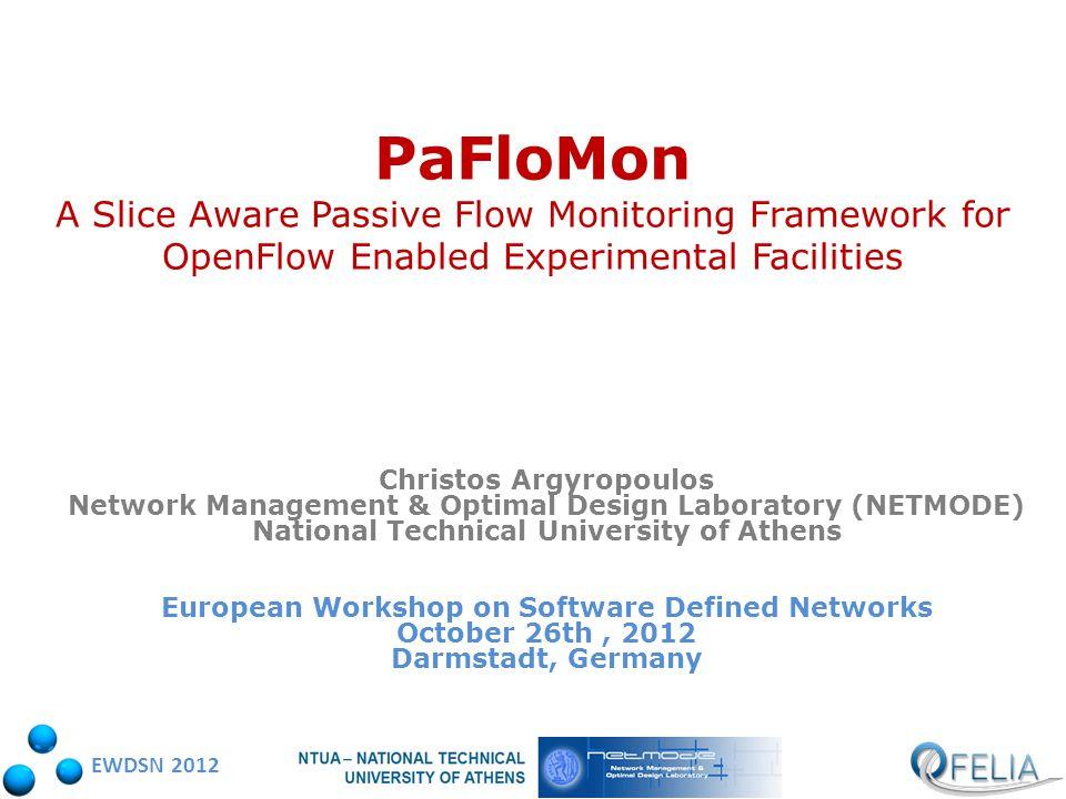EWDSN 2012 PaFloMon data gathering on ofelia